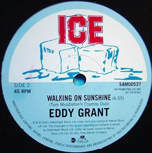 Cover zu Eddy Grant - Walking On Sunshine (12, Promo) Schallplatten Ankauf