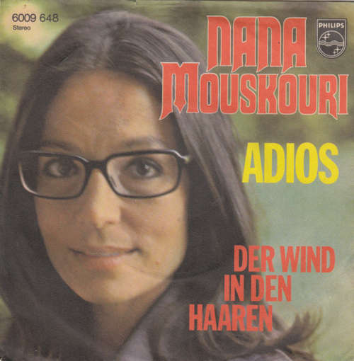 Cover zu Nana Mouskouri - Adios (7, Single) Schallplatten Ankauf