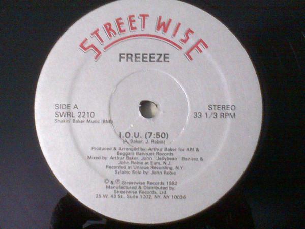 Cover Freeeze* - I.O.U. (12) Schallplatten Ankauf
