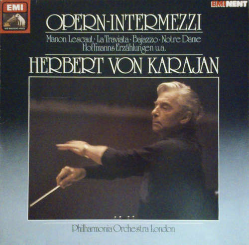 Cover Herbert von Karajan, The London Philharmonic Orchestra - Opern - Intermezzi (LP, Comp, RE) Schallplatten Ankauf