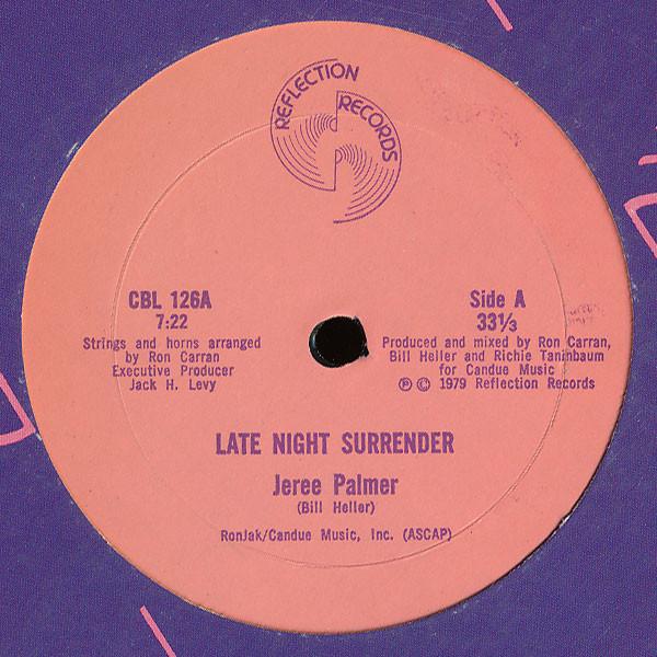 Cover Jeree Palmer - Late Night Surrender (12) Schallplatten Ankauf