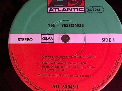 Cover Yes - Yessongs (3xLP, Album, RP, 3-P) Schallplatten Ankauf