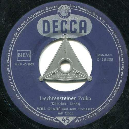 Cover Will Glahé Und Sein Orchester, Die Sunnies Und Die Telestars - Schweizer Kanton-Polka / Liechtensteiner Polka (7, Single) Schallplatten Ankauf