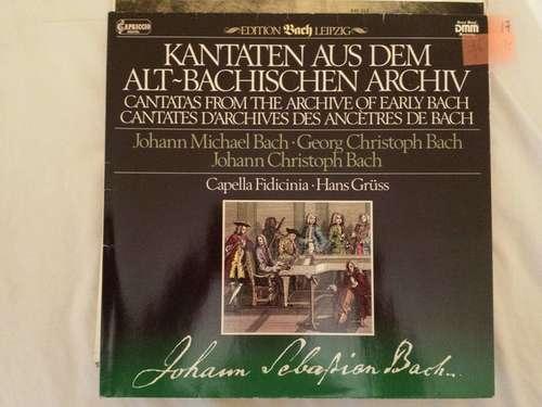 Cover zu Johann Michael Bach - Georg Christoph Bach - Johann Christoph Bach / Capella Fidicinia - Hans Grüß - Kantaten Aus Dem Altbachischen Archiv (LP) Schallplatten Ankauf