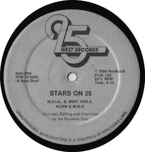 Cover zu Various - Stars On 25 (12, Mixed) Schallplatten Ankauf