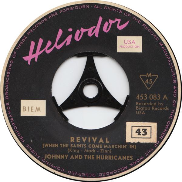 Cover zu Johnny And The Hurricanes - Revival / Rocking Goose (7, Single, Mono) Schallplatten Ankauf