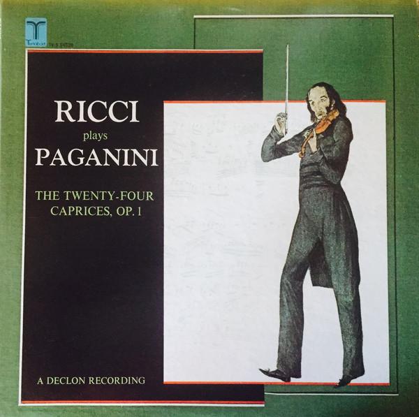 Cover Paganini*, Ruggiero Ricci - Ricci Plays Paganini: The Twenty-Four Caprices, Op. 1 (LP, Album) Schallplatten Ankauf