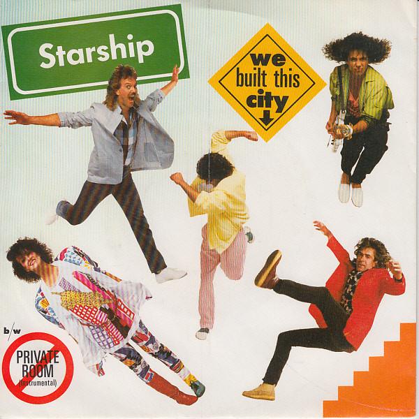 Cover Starship (2) - We Built This City (7, Single, 2nd) Schallplatten Ankauf