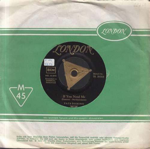 Cover zu Fats Domino - If You Need Me / Country Boy (7, Single) Schallplatten Ankauf