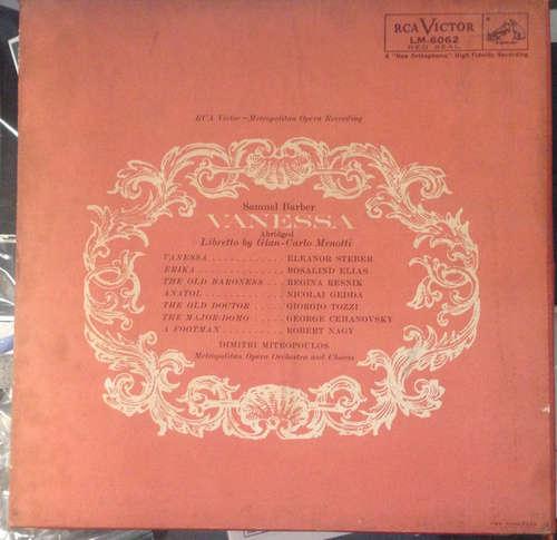 Bild Barber* - Metropolitan Opera Orchestra* And Chorus*, Dimitri Mitropoulos - Vanessa (2xLP, Mono) Schallplatten Ankauf