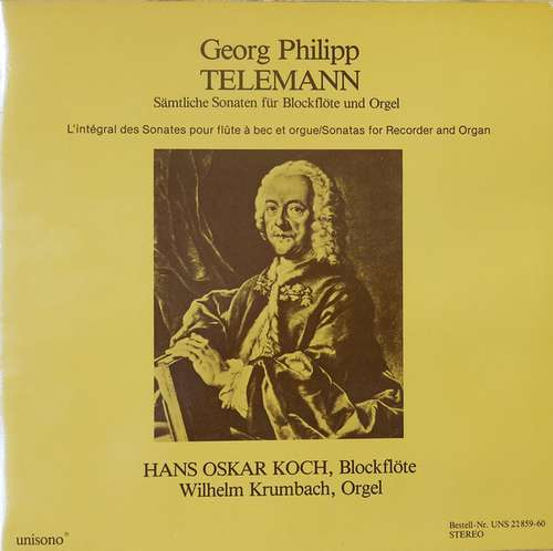 Bild Georg Philipp Telemann, Hans Oskar Koch, Wilhelm Krumbach - Sämtliche Sonaten Für Blockflöte Und Orgel (2xLP) Schallplatten Ankauf