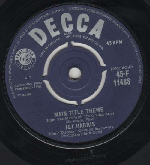 Bild Jet Harris - Main Title Theme (From The Man With The Golden Arm) (7, Single) Schallplatten Ankauf