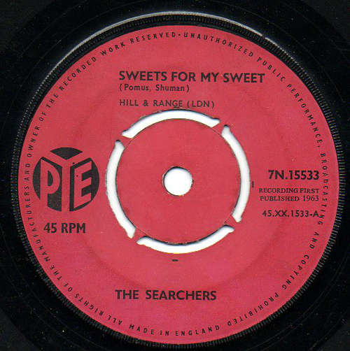 Bild The Searchers - Sweets For My Sweet (7, Single, Pus) Schallplatten Ankauf