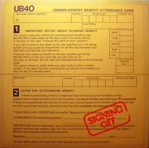 Cover zu UB40 - Signing Off (LP, Album + 12, Maxi) Schallplatten Ankauf