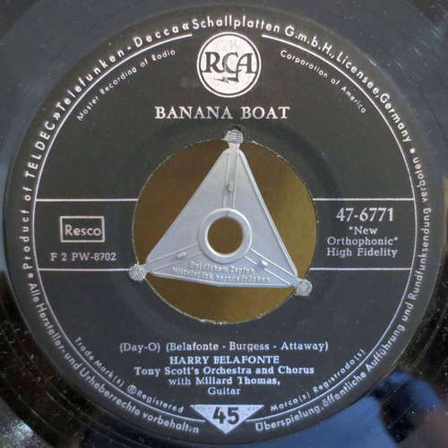 Bild Harry Belafonte, Tony Scott's Orchestra and Chorus* with Millard Thomas - Banana Boat / Star-O (7, Single, Mono) Schallplatten Ankauf