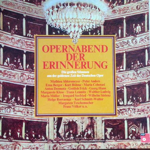 Bild Various - Opernabend Der Erinnerung (LP, Comp, Mono) Schallplatten Ankauf