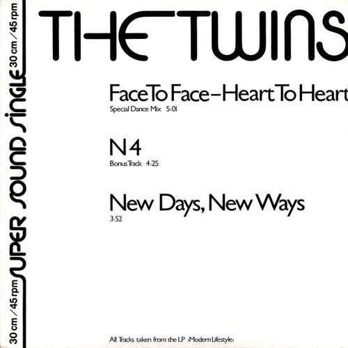 Bild The Twins - Face To Face - Heart To Heart (12, Single) Schallplatten Ankauf
