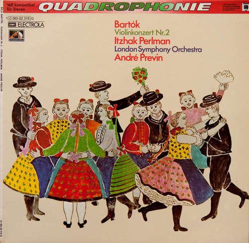 Bild Bartók* – Itzhak Perlman, London Symphony Orchestra*, André Previn - Violinkonzert Nr. 2 (LP, Album, Quad) Schallplatten Ankauf