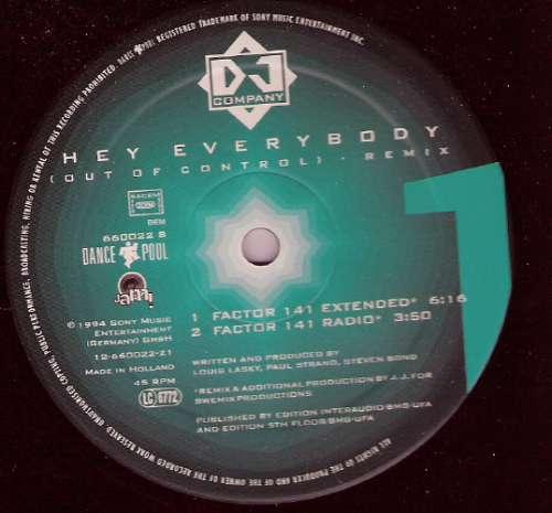 Bild DJ Company - Hey Everybody (Out Of Control) (Remix) (12) Schallplatten Ankauf