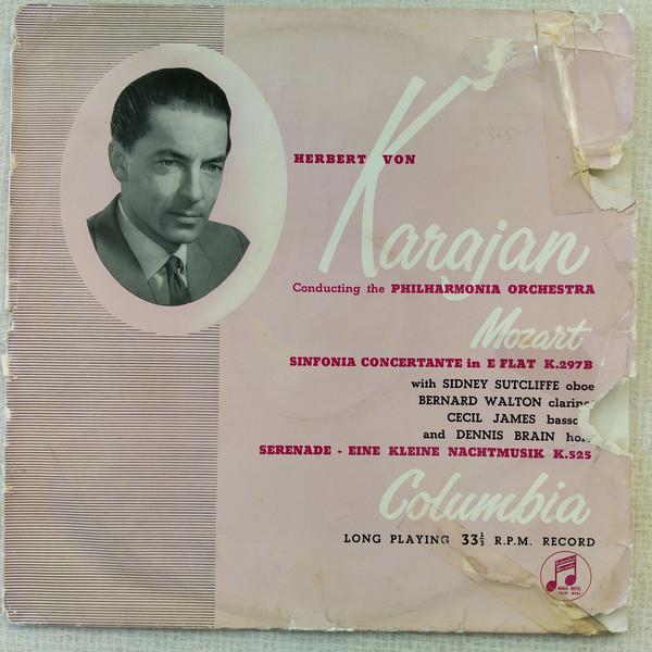Bild Mozart*  -  Karajan*, Philharmonia Orchestra - Sinfonia Concertante In E Flat, K297b / Eine Kleine Nachtmusik (LP, Album, Mono) Schallplatten Ankauf