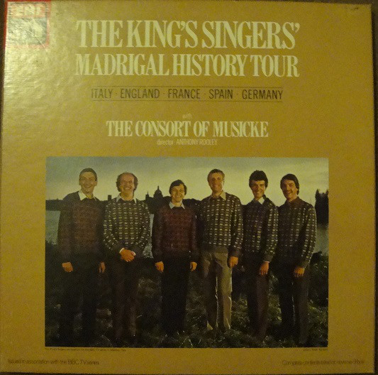 Cover The King's Singers, The Consort Of Musicke, Anthony Rooley - Madrigal History Tour (2xLP, Album, Box) Schallplatten Ankauf