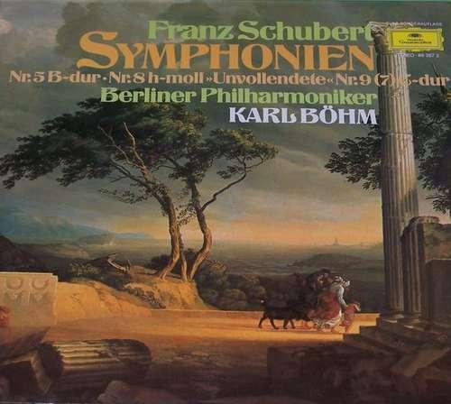 Cover zu Franz Schubert • Karl Böhm, Berliner Philharmoniker - Symphonien Nr.5 - Nr.8 (Unvollendete) - Nr.9 (7) (2xLP, Club, Gat) Schallplatten Ankauf