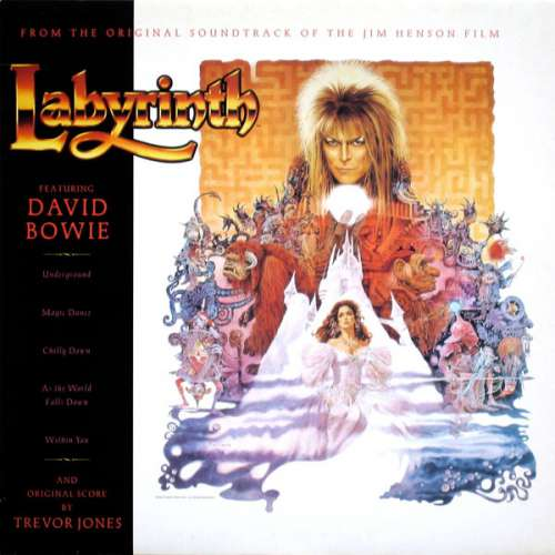 Cover David Bowie And Original Score By Trevor Jones - Labyrinth (From The Original Soundtrack Of The Jim Henson Film) (LP, Album) Schallplatten Ankauf