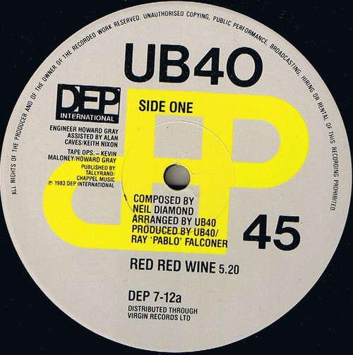 Cover zu UB40 - Red Red Wine (12, Single) Schallplatten Ankauf