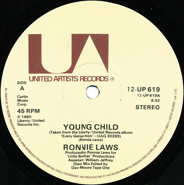 Cover Ronnie Laws - Young Child (12, Single) Schallplatten Ankauf
