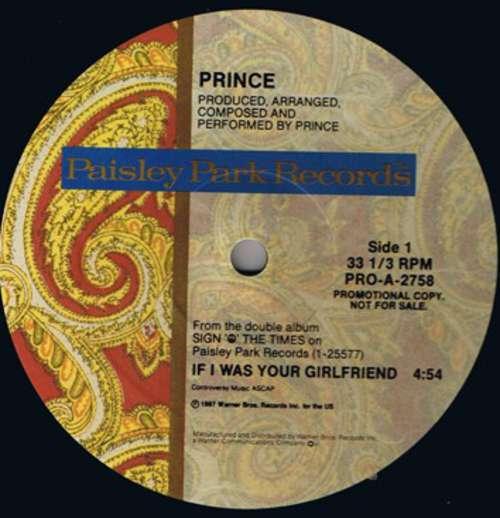 Cover Prince - If I Was Your Girlfriend (12, Promo) Schallplatten Ankauf