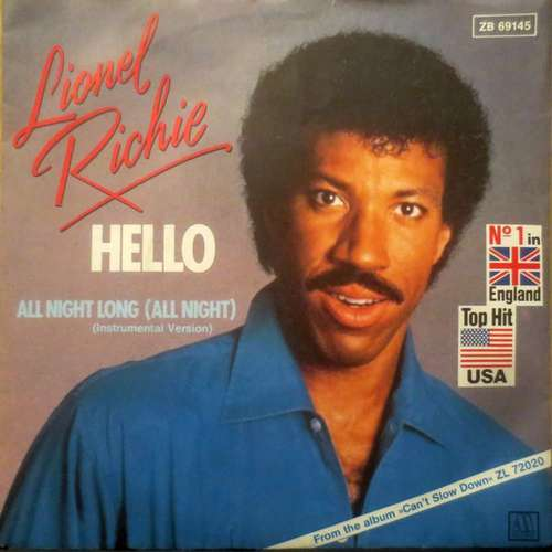 Cover zu Lionel Richie - Hello (7, Single) Schallplatten Ankauf