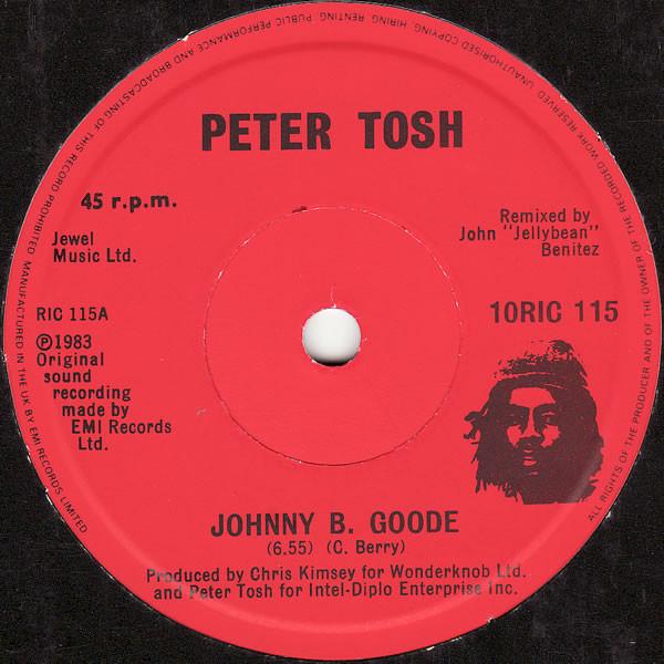 Cover zu Peter Tosh - Johnny B. Goode / Peace Treaty (10) Schallplatten Ankauf