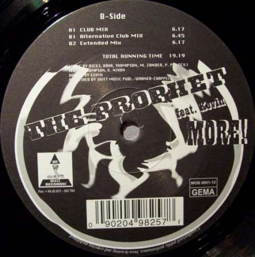 Bild The Prophet (9) Feat. Kevin* - More! (12) Schallplatten Ankauf