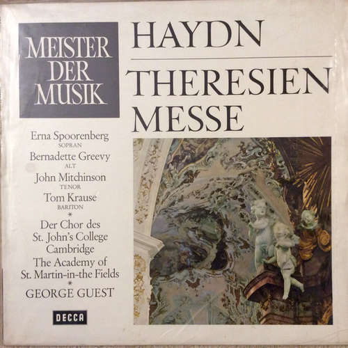 Bild Haydn*, Erna Spoorenberg, Bernadette Greevy, John Mitchinson, Tom Krause, Der Chor Des St. Johns College, Cambridge*, The Academy Of St. Martin-in-the-Fields, George Guest (2) - Theresien-Messe (LP) Schallplatten Ankauf