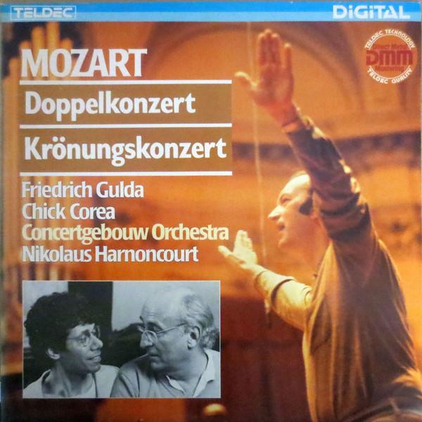 Cover zu Mozart* / Friedrich Gulda, Chick Corea · Concertgebouw Orchestra*, Nikolaus Harnoncourt - Doppelkonzert / Krönungskonzert (LP) Schallplatten Ankauf