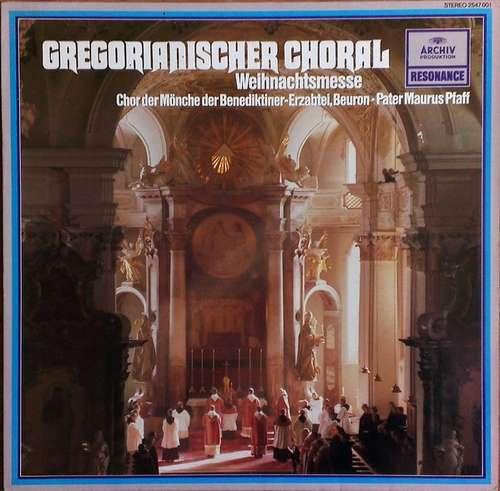 Cover zu Chor Der Mönche Der Benediktiner-Erzabtei St. Martin, Beuron, Pater Maurus Pfaff - Gregorianischer Choral: Weihnachtsmesse (LP) Schallplatten Ankauf