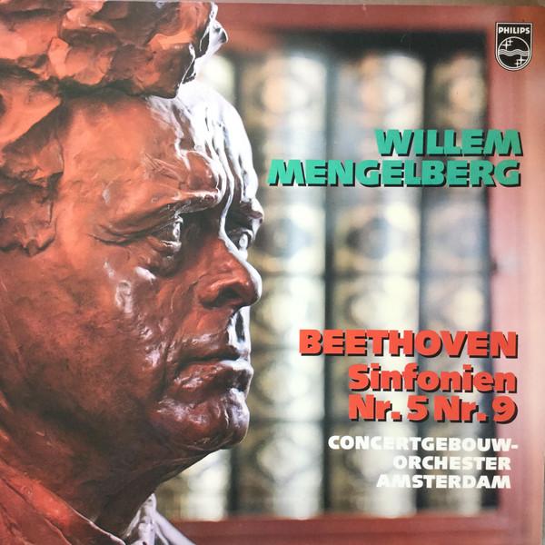 Cover Beethoven*, Concertgebouw-Orchester Amsterdam*, Willem Mengelberg - Beethoven Sinfonien Nr. 5 Nr. 9 (2xLP) Schallplatten Ankauf