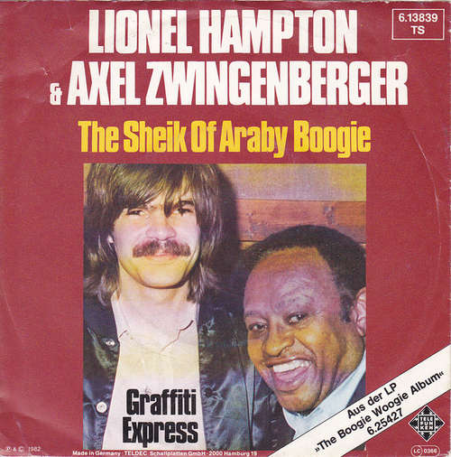 Cover Lionel Hampton, Axel Zwingenberger - The Sheik Of Araby Boogie (7, Single) Schallplatten Ankauf