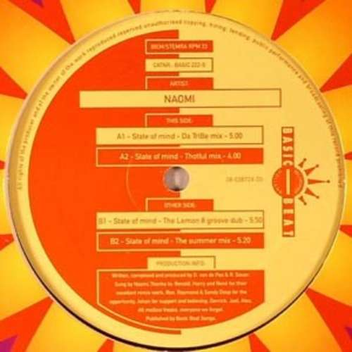 Bild Naomi (2) - State Of Mind (Remixes) (12) Schallplatten Ankauf