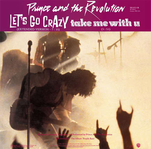 Cover Prince And The Revolution - Let's Go Crazy / Take Me With U / Erotic City (12, Single) Schallplatten Ankauf