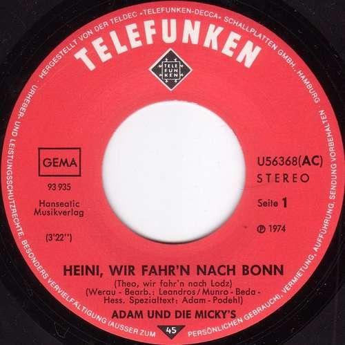 Adam Und Die Mickys Heini Wir Fahrn Nach Bonn Theo Wir Fahrn