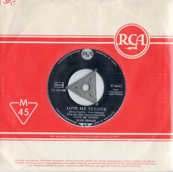 Cover Elvis Presley - Love Me Tender / Anyway You Want Me (7, Single, s5 ) Schallplatten Ankauf