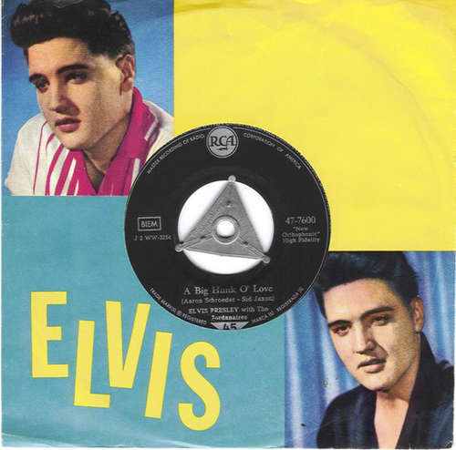 Cover zu Elvis Presley With The Jordanaires - A Big Hunk O' Love (7, Single) Schallplatten Ankauf