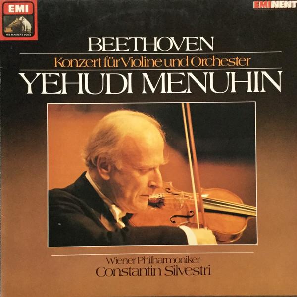 Cover Beethoven*, Yehudi Menuhin, Wiener Philharmoniker, Constantin Silvestri - Konzert Für Violine Und Orchester (LP, RE) Schallplatten Ankauf