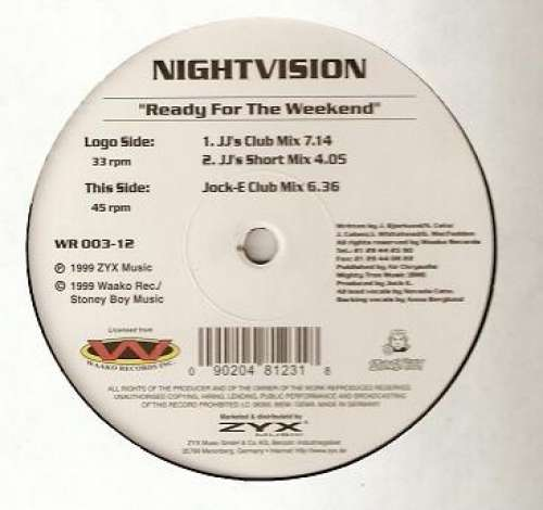 Bild Nightvision - Ready For The Weekend (12) Schallplatten Ankauf