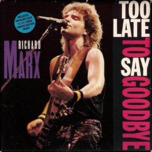 Cover zu Richard Marx - Too Late To Say Goodbye (12, Maxi) Schallplatten Ankauf