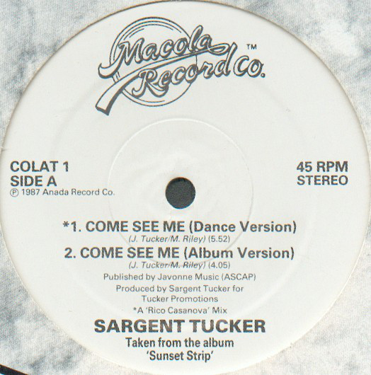Cover Sargent Tucker / The World Class Wreckin Cru* - Come See Me / Turn Off The Lights (12) Schallplatten Ankauf