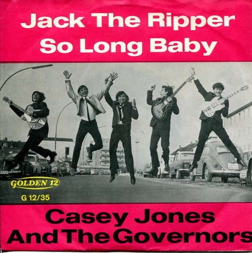 Cover zu Casey Jones And The Governors* - Jack The Ripper / So Long Baby (7, Single, Mono) Schallplatten Ankauf