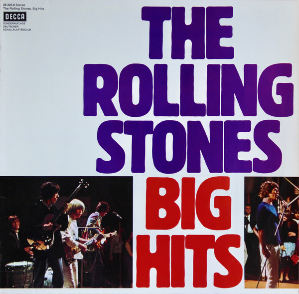 Cover The Rolling Stones - Big Hits (LP, Comp, Club, RE) Schallplatten Ankauf