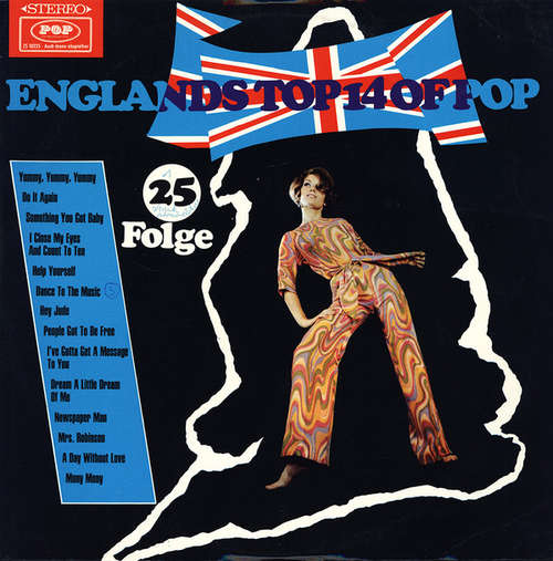 Cover Various - Englands Top 14 Of Pop, 25. Folge (LP) Schallplatten Ankauf